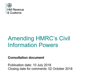 HMRC's Civil Information POwers Proposal