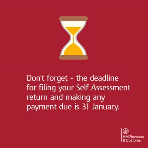 Self Assessment deadline reminder