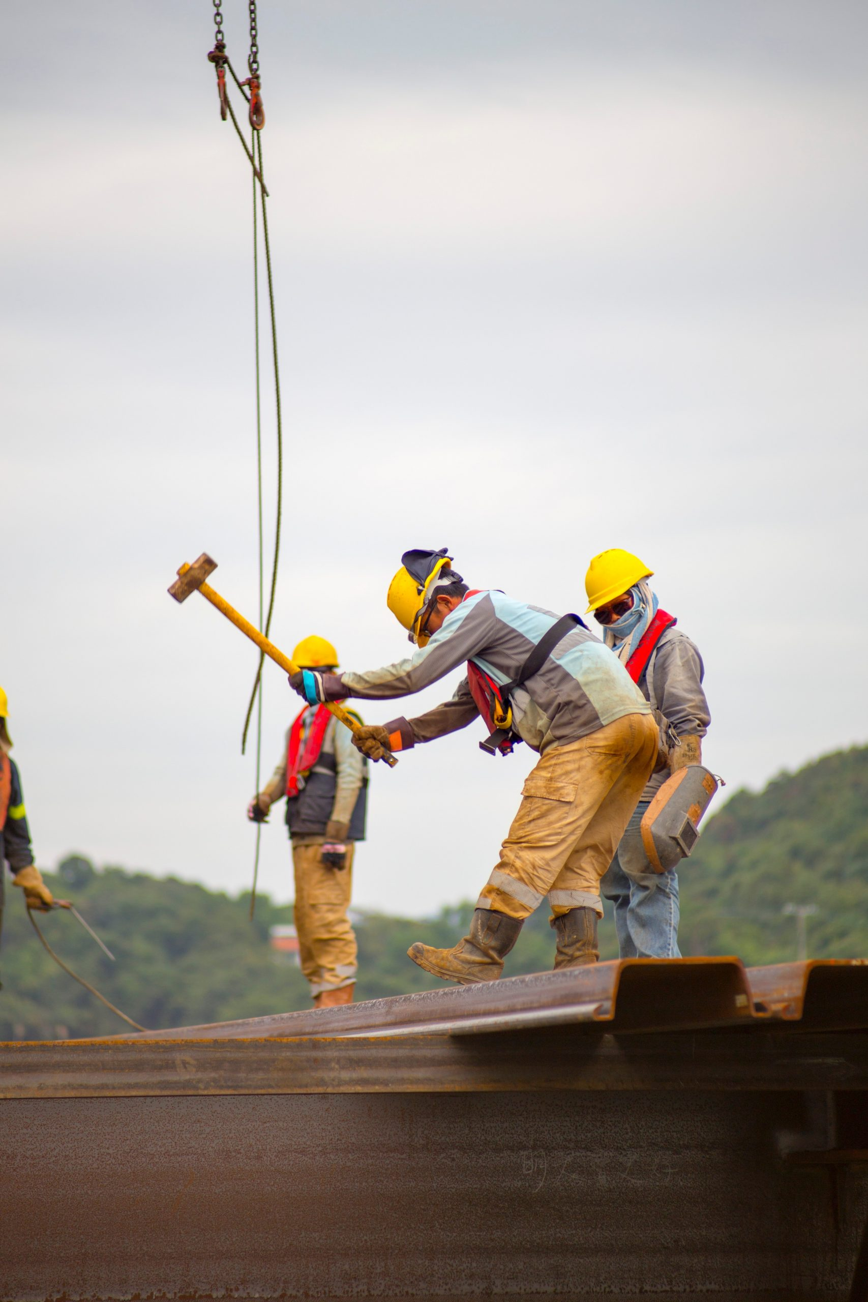Workers on construction site